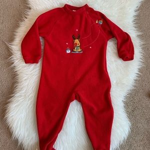 Other - PETIT LEM - Red Fleecy Footie Onesie | 24 Months